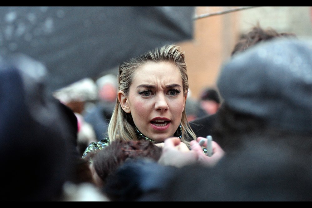 """A marriage proposal? Right here? Right now? And not in front of a huge mostly drunken crowd at a basketball game where it could have been broadcast on their giant television screen? I'm disappointed. I honestly had you pegged as more of a romantic, frankly...""  - Vanessa Kirby is best known for being Princess Margaret in    the TV series 'The Crown'"
