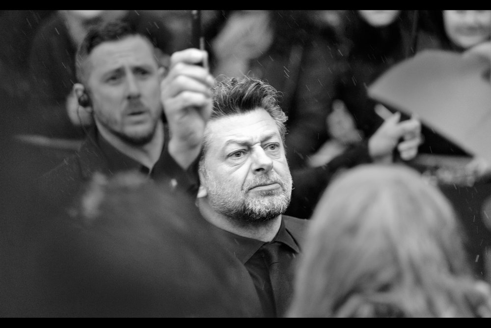 Stern expression notwithstanding, Andy Serkis got a cheer from the whole crowd at the event, as he was the only star to sign for EVERYBODY in every pen while it snowed. Very nicely done, though he was slightly more warmly dressed than (say) Anya Taylor Joy or Vanessa Kirby.