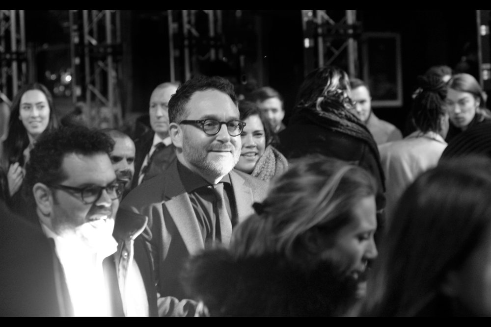 Random attendee from the world of Directing : Colin Trevorrow, who directed the Jurassic Park sequel Jurassic World (and even more random, on the left side next to him is actor Josh Gad, best known as the voice of that snowman in Disney's 'Frozen')
