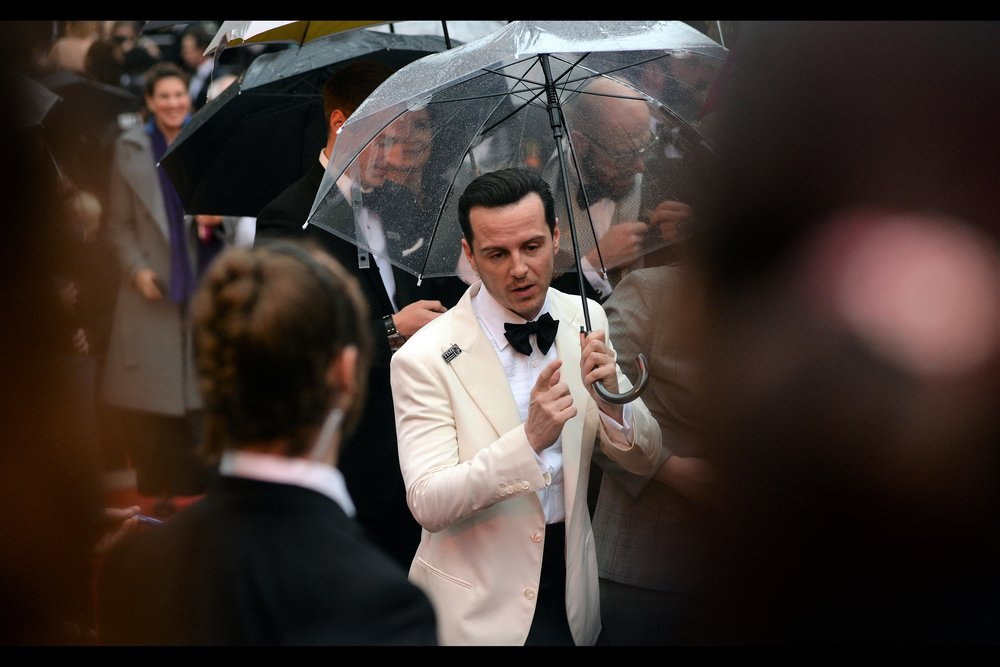 """Awww... come on, stop making me sign stuff from 'Sherlock' and stuff where I'm   'C' from Spectre  ""  - Andrew Scott is perhaps best known for both of those things, but on this night he was a nominee for best actor for ""Hamlet""."