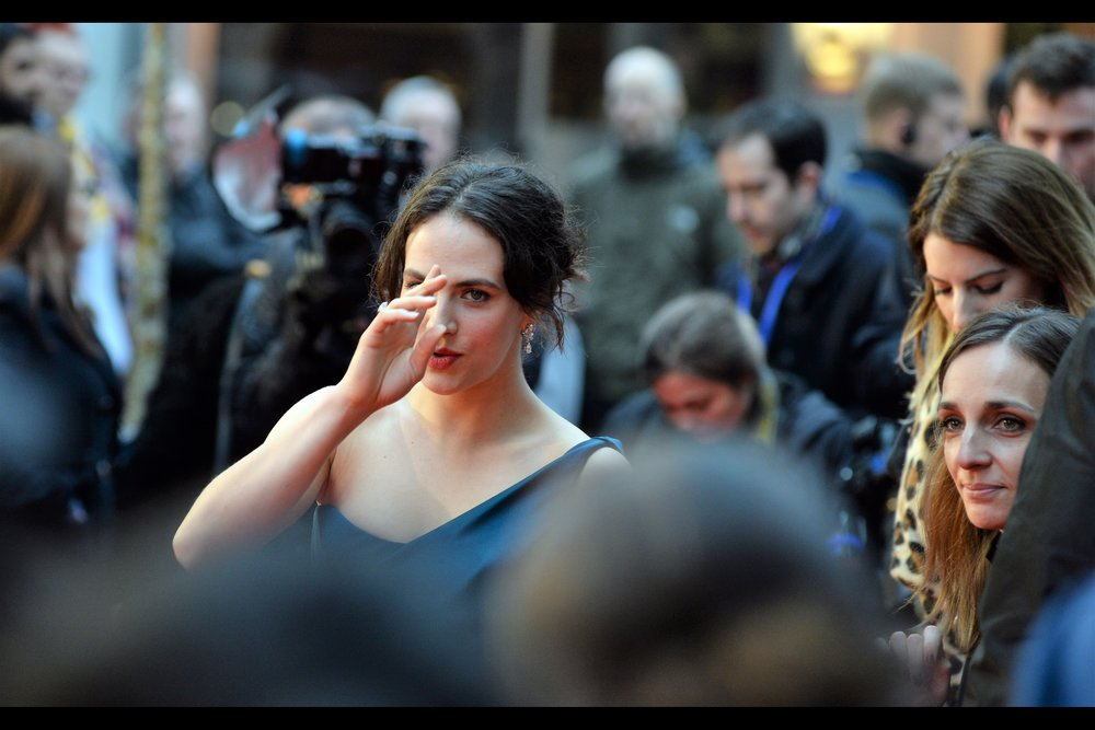 """This is how I make sure you only photograph my good side""  - Jessica Brown Findlay was in 20 episodes of 'Downton Abbey', as well as the movie    'A New York Winter's Tale'    which... well... let's not mention A New York Winter's Tale any more than we have to."