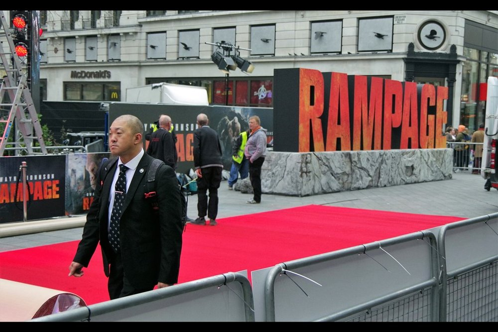 """RAMPAGE"" - it's the movie that on the face of it represents a likely Autograph Dealer biopic, complete with giant apes, hideous reptiles and some kind of toothed wolf-like creature. Dwayne Johnson does battle with them, but I fear even the heavy firepower he brings might not be sufficient."