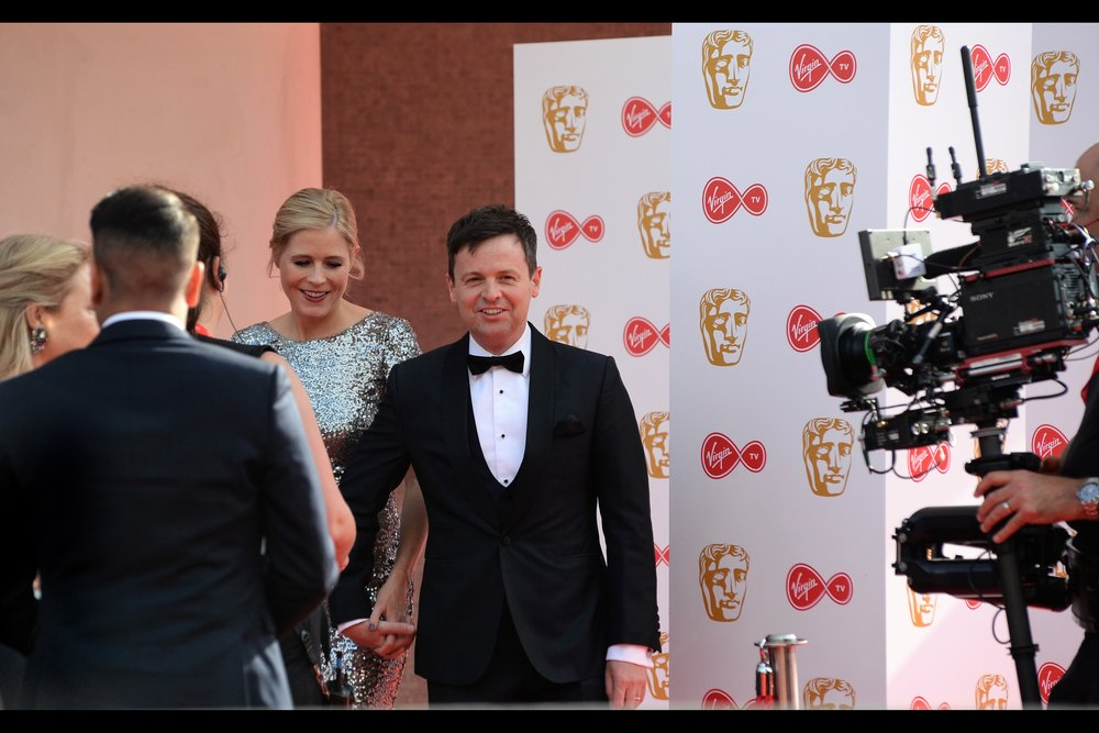 "Declan Donnelly is half of the ""Ant and Dec"" comedy duo that has won the same Bafta award for most of the past decade or so. I think Ant didn't attend this one...."