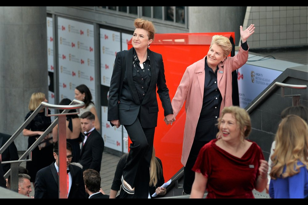 Sit down if you're reading : I actually know who Sandi Toksvig (at right) is : she used to host a radio show I used to listen to back in the day. British culture... it's almost like I've lived here for a while!