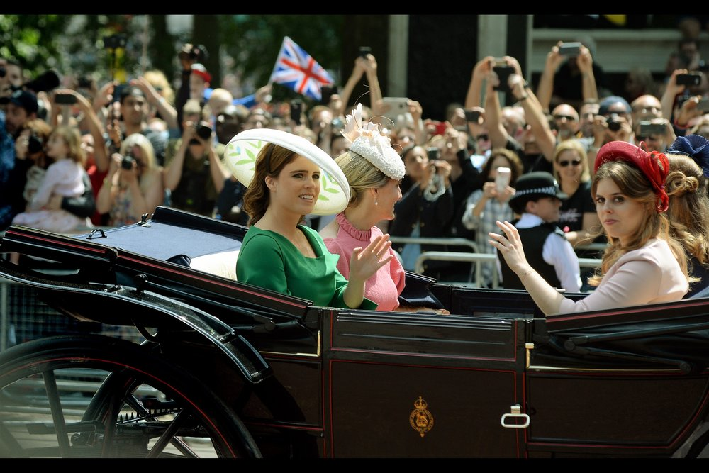 "Princesses Eugenie and Beatrice, or Beatrice and Eugenie (I don't know which one is which, though they did attend a premiere once, for    ""The Young Victoria"" back in 2009   )"