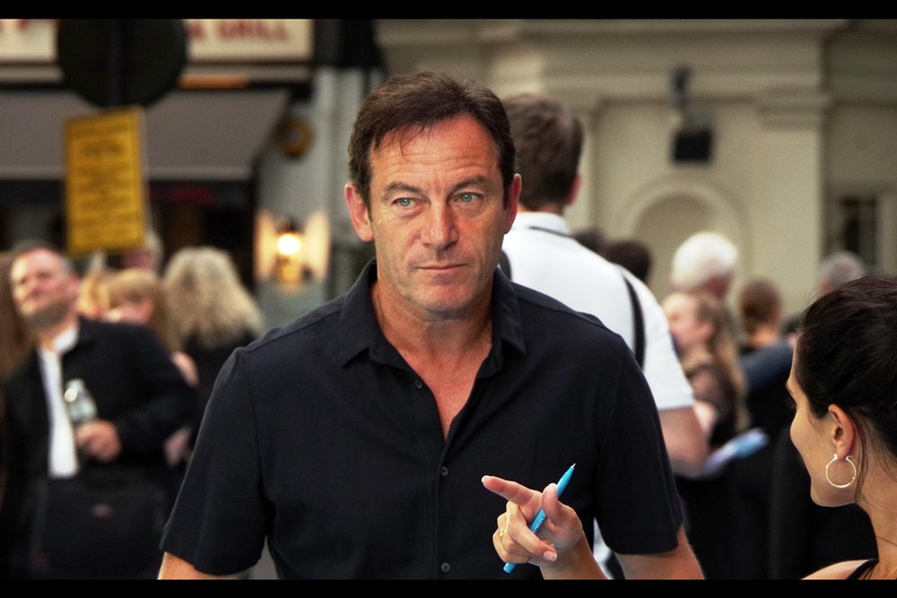 """You don't have to pose for the paparazzi over there. You don't even have to give them a reason. The look kind of says it all. Can I go now? I need to go home.""   Late arrival not connected to the film : Jason Isaacs, last photographed at the premiere of    The Death of Stalin   , a movie which I 100% disliked, in direct contrast to almost everybody who's seen it. Oh well."