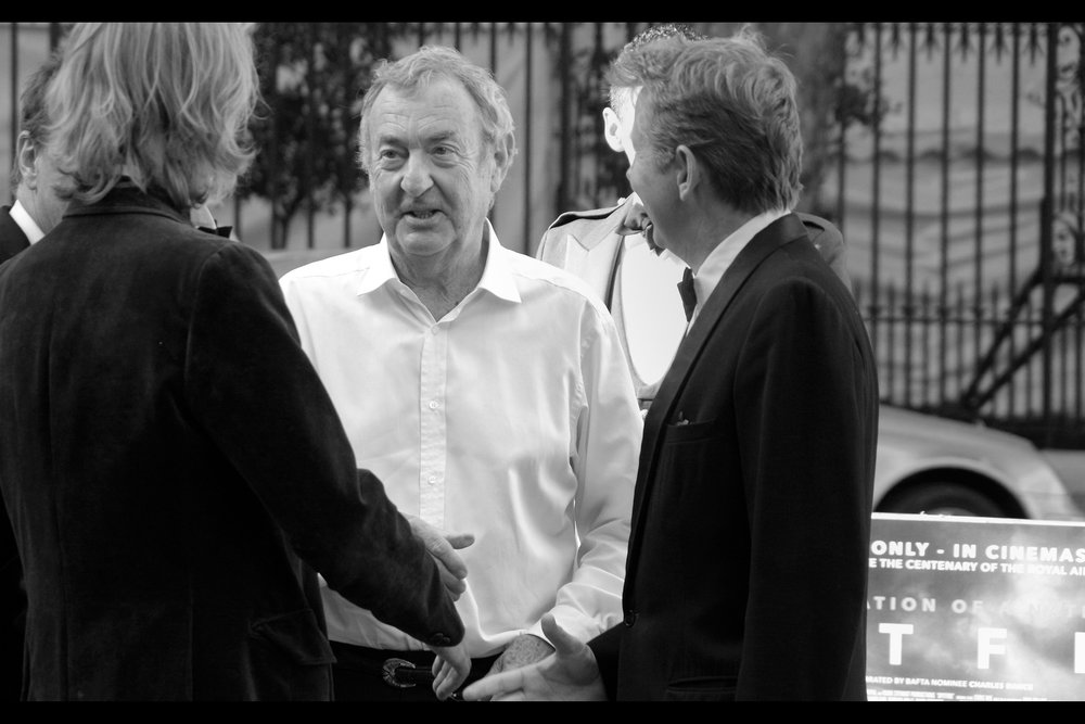 """No tie? At this event? You're lucky you're in rock'n'roll""  Nick Mason is the drummer for Pink Floyd."