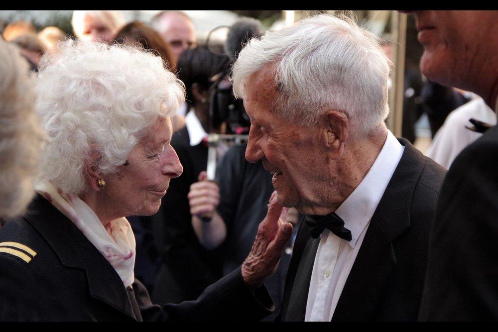 Mary Ellis and Allan Scott, RAF Veterans.