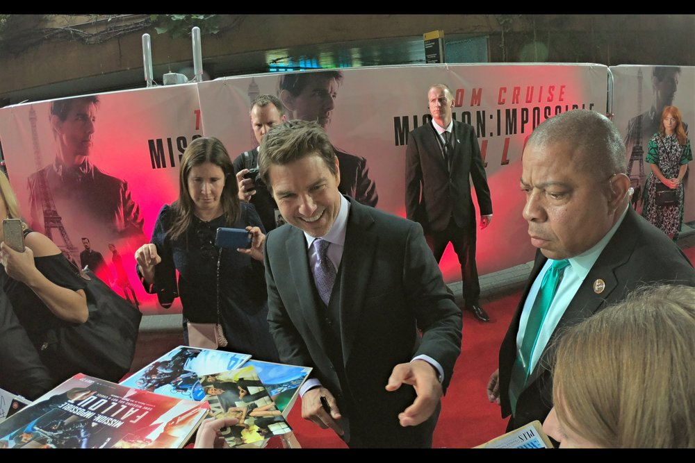 For the first time in a very long time, I put Autographs before Photographs... but it worked out okay! At the    Mission Impossible : Fallout Premiere   .