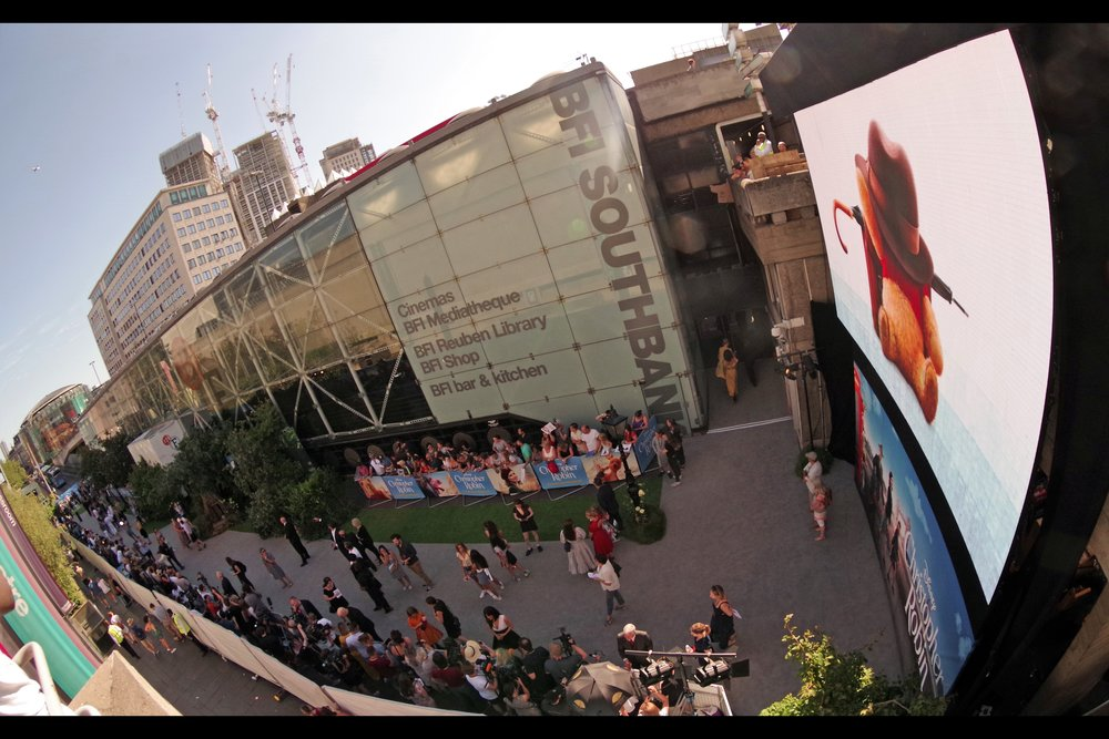 """Like the last Sunday premiere in London (also a Disney   premiere, also at BFI Southbank, for """"The Incredibles2""""  , and ALSO held in full sun in 30-degree Celsius heat) - I decided to shoot the event from outside the event. Luckily, Security took a fairly dim but accepting perspective on the choice."""