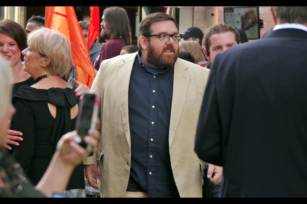 """If I can just squeeze myself around that security guy....""  Nick Frost is also in this movie, but is hoping none of us realise it and ask him to sign anything. He's arguably best known for movies also starring Simon Pegg (like Shaun of the Dead,    The World's End   , Paul and Hot Fuzz)"