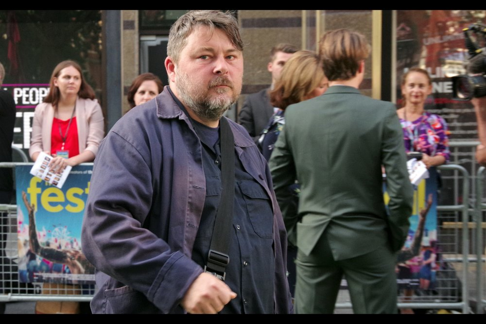 "Possibly entirely random attendee with nothing to do with the film: Director Ben Wheatley, who directed such BFI London Film Festival premiereing films as    ""High-Rise""    and    ""Free Fire"""
