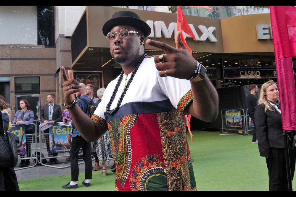Hammed Animashaun is in this movie, but sadly did not provide warmup or emcee duties at this premiere (and surprisingly your good friend and mine Hakeem Mr Impact didn't attend)