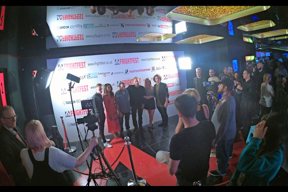 """The by-now obligatory """"cast assembled in front of the paparazzi"""" shot, taken on a GoPro. I could get used to this : front-row is intimidating, while back-row gives context."""