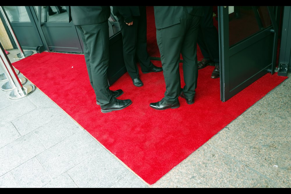 It's not often I take a photo of every square centimetre of a red carpet (notwithstanding the parts that are inside the cinema) without using a wide-angle lens. But this is it. And this cinema, it's worth pointing out, has a side door that stars can use to bypass the carpet, should they choose.