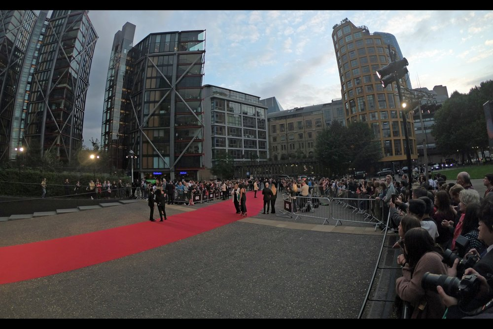 It's a long carpet, it's a decent crowd, and the realities of the way it works is that you never actually know in advance who'll show up to the GQ Awards. It's fun.