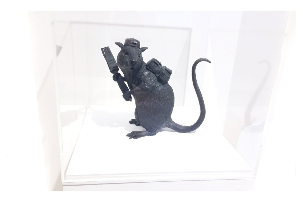 "Sculpture, ""Bronze Rat"" (2006)"