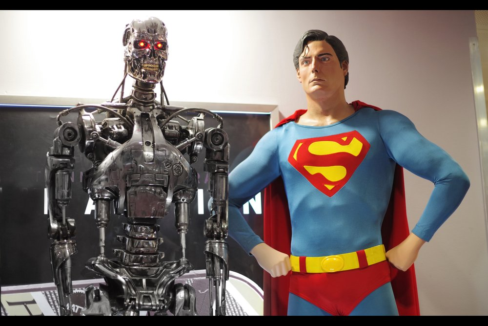 """I am a robot, and therefore any smile of smug satisfaction you see coming from me is on you, not me.""  T800 Endoskeleton from Terminator 2. Winning bid £200,000 Christopher Reeve's Superman II costume. Winning bid £130,000"