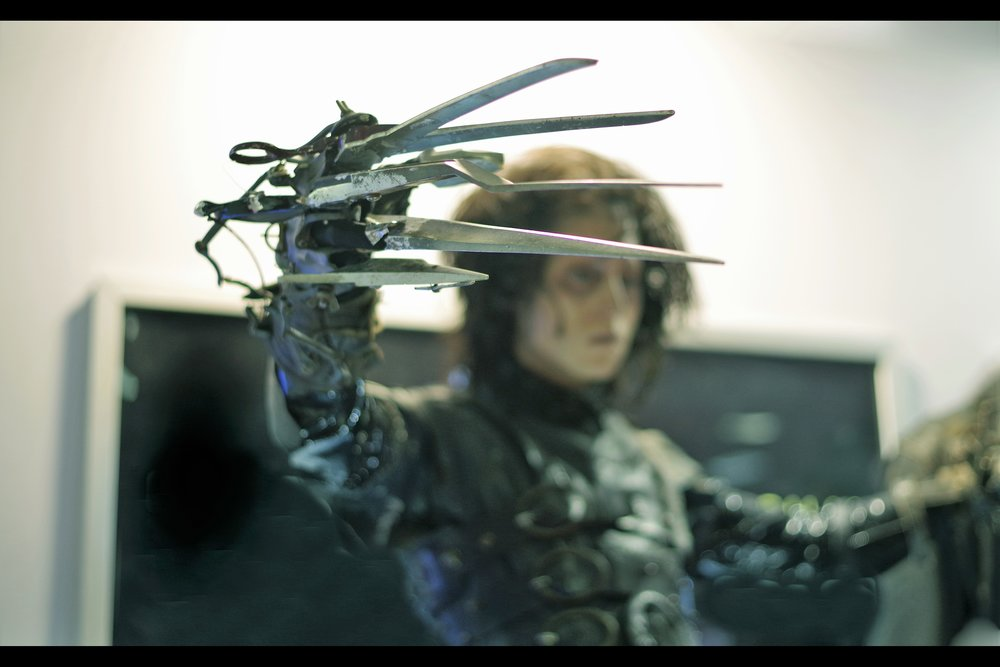 """You wanna see my train ticket?""  Edward Scissorhands costume - winning bid £65,000"