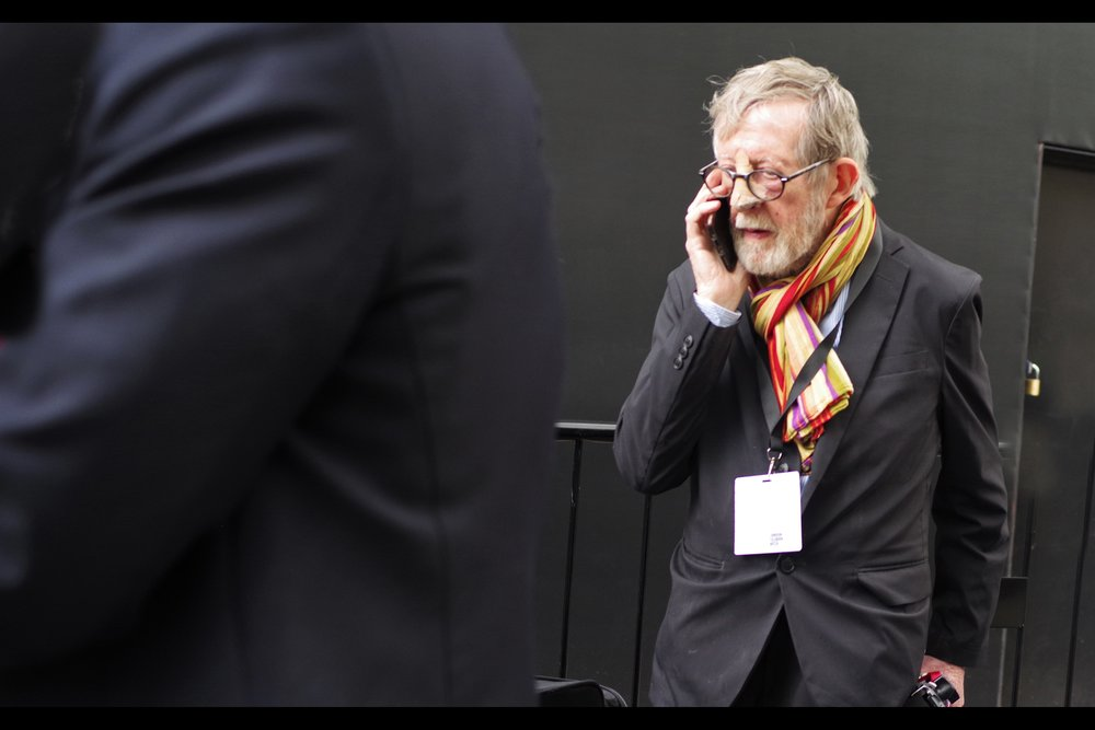 """Lenny? The fake Aged Harry Potter getup isn't working. We're going to have to go to plan C"""