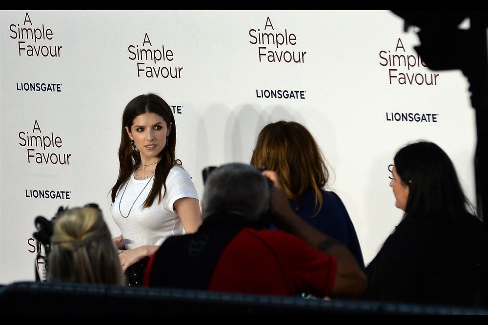 """It's London Fashion Week…. what's that you're wearing?"" ""It's a white t-shirt"" ""Bold choice"" ""I thought so…""  - Actress Anna Kendrick"