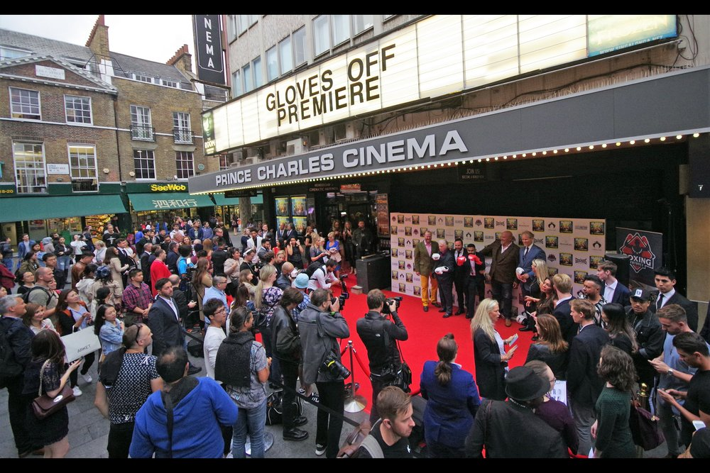 "It's a Prince Charles Cinema Premiere!! - and it's for a movie the stars of which attended (   ""Gloves Off""   )"