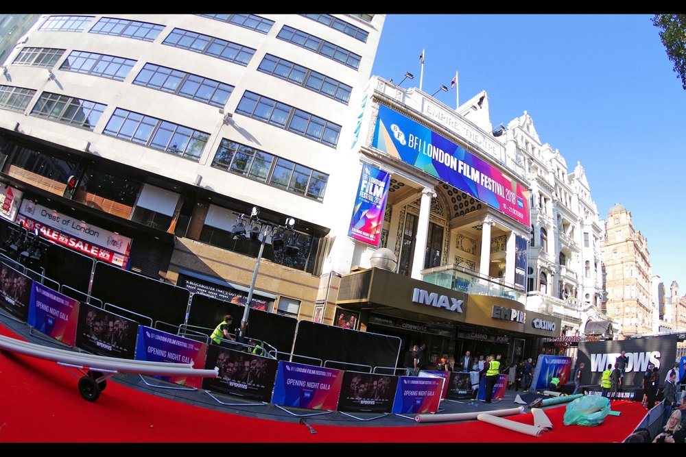 It's BFI London Film Festival, and for the first time since time immemorial (?) it's not at the Odeon Leicester Square : that cinema (diagonally to the right of Cineworld (nee Empire) is still being renovated after almost a year of being closed).