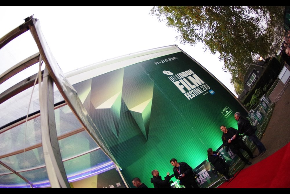 The BFI Film Festival's temporary cinema at Embankment is about a 20 minute semi-panicked casual saunter through traffic-packed London Streets from Leicester Square. But it's also quieter, calmer and painted a more soothing colour of green.