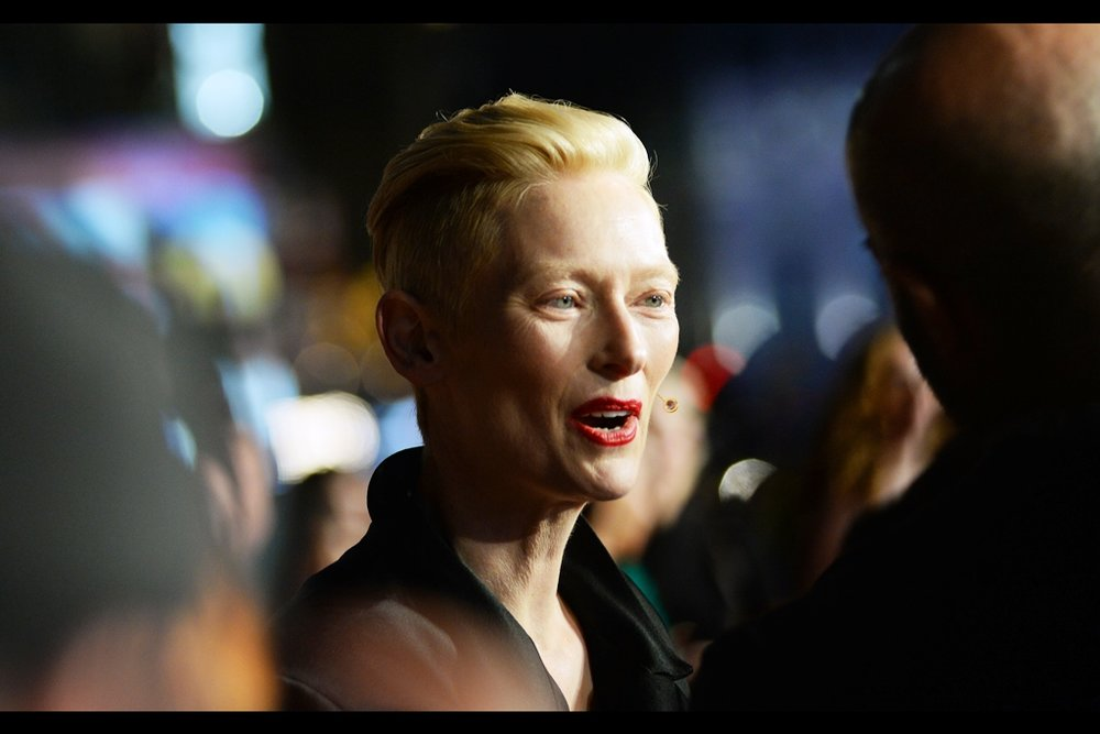 """That was amazing. I assume I'll get over whatever diseases I was exposed to and feel a sense of total exhilaration for days afterwards"" . it goes without saying that any and all attempts to photograph Tilda Swinton while she was signing were doomed to failure. And I was in the FRONT ROW."
