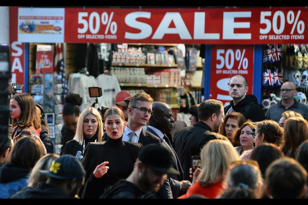"""""""Sure, I could sign autographs and do selfies… but there's a 50% off sale happening right behind me. You can see how I'm feeling kind of torn right now…."""""""