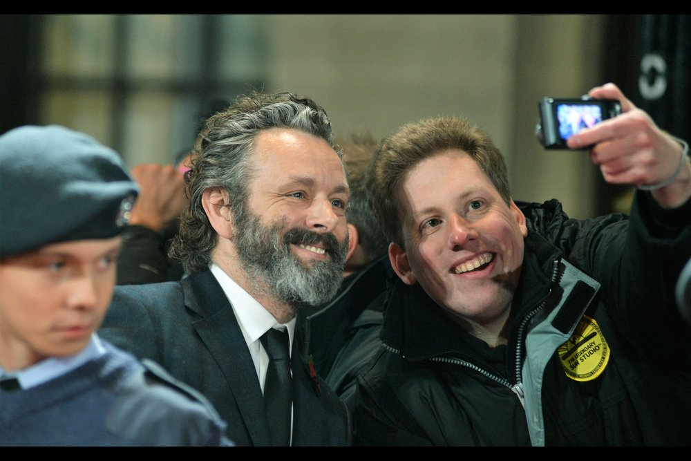 "Michael Sheen's expression says :  ""No, you did NOT love me in Tron:Legacy - you love me from the Twilight series, just like everyone else"" . ….I … erm…. thought he was really good in 'The Damned United'"