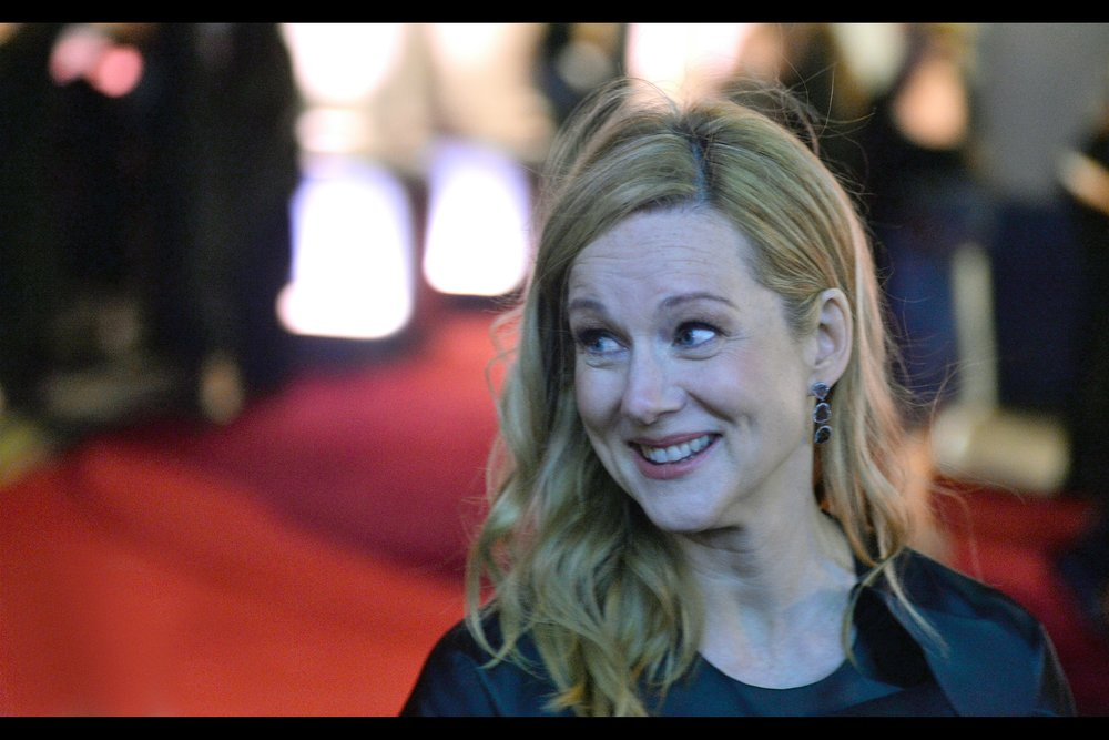 """That's not really the movie I want to be remembered for, but okay…""  - along with having a role in the second (original) Teenage Mutant Ninja Turtles movie, I've photographed Laura Linney only once - at    the premiere of Mr Holmes."