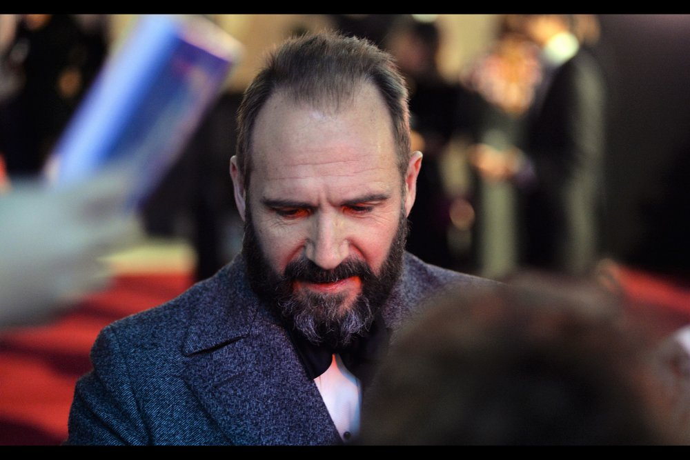 """I'm really not interested in your travel brochures, dude""  - it's Ralph Fiennes! Perhaps still best known as Voldemort in the Harry Potter saga, I last photographed him at this year's BFI London Film Festival, where he directed    ""The White Crow"""