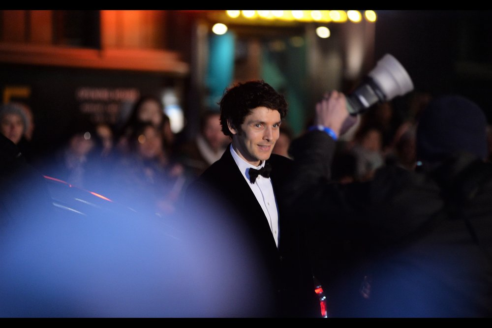 I don't know who this is, but one of the autograph dealers wished him good luck on the night, so perhaps he's an actor, UFC fighter, or just a stylishly dressed member of the catering staff. It's hard to say.. .I'm not good with cynicism.  (subsequently identified as : Colin Morgan, nominated for Best Actor for 'Translations')