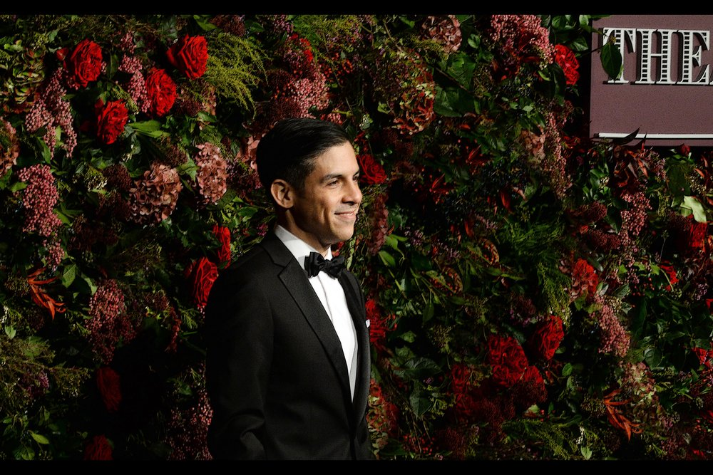 If this is Matthew Lopez, he won Best Play for 'The Inheritance' on the night, and I took just two (2) semi-sharp photos of him between several hundred shots of actresses Letitia Wright and Fiona Shaw.