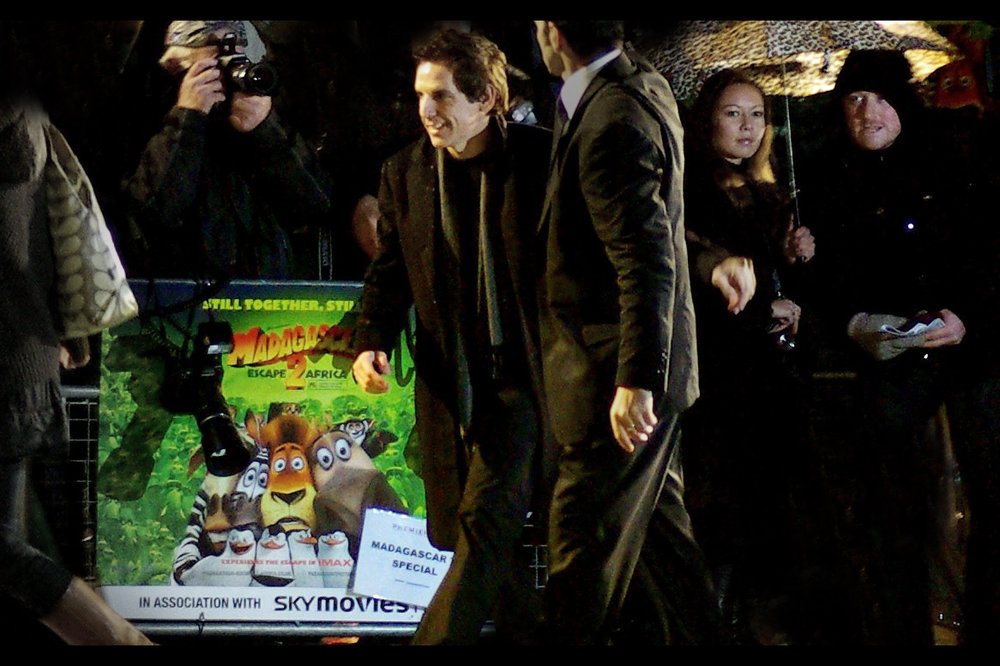 Madagascar 2. The stars were all there, except David Schwimmer. Which is odd, because seriously, what's he done since the previous Madagascar?? (This meanwhile is Ben Stiller... he's been in Tropic Thunder recently. I know that because I photographed him at the premiere for that film)