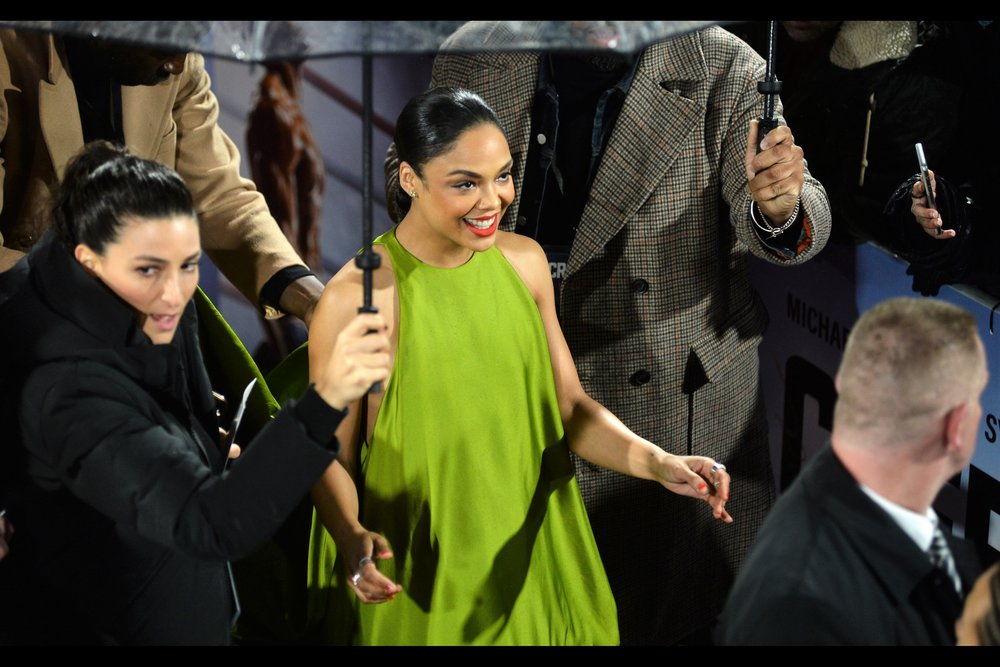 """You like the colour? You haven't even seen the rest of the dress yet!""  - Tessa Thompson plays Bianca, Michael B Jordan's girlfriend's character, in the movie. She was also Valkyrie in Thor : Ragnarok."