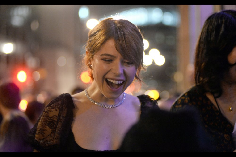 """""""I've been looking at you for ten uncomfortable seconds now and really, all I can come up with is """"you're kind of short, aren't you?""""  . Short, but loud. I photographed Jessie Buckley during the BFI London Film Festival premiere for    """"Wild Rose""""    back in October. She seems nice."""