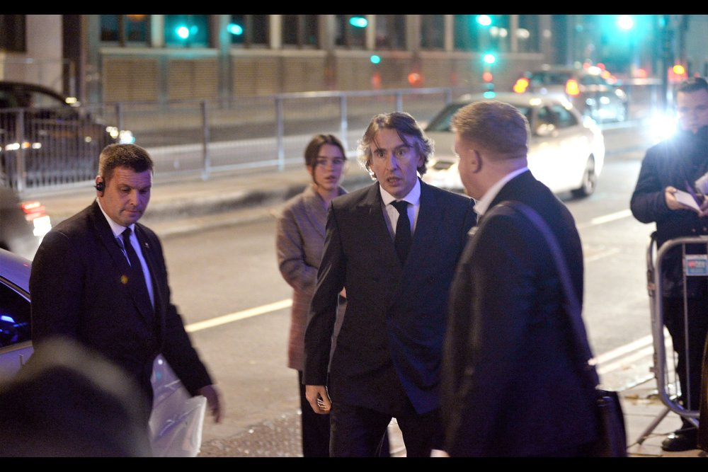 """""""How did you guys follow me? I instructed the driver to take the most circuitous route possible no less than four times before getting here? .. how did you KNOW I'd be here??""""  - Steve Coogan was most recently in (and at the BFI LFF closing night premiere of)    """"Stan and Ollie"""""""