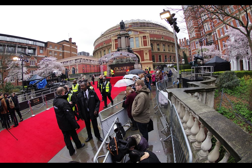 April 8th : There were rumours that there'd be an Avengers Infinity War premiere, but (luckily) I don't trust Disney so I went to the slightly soggy (but still fun)    Olivier Awards 2018   .