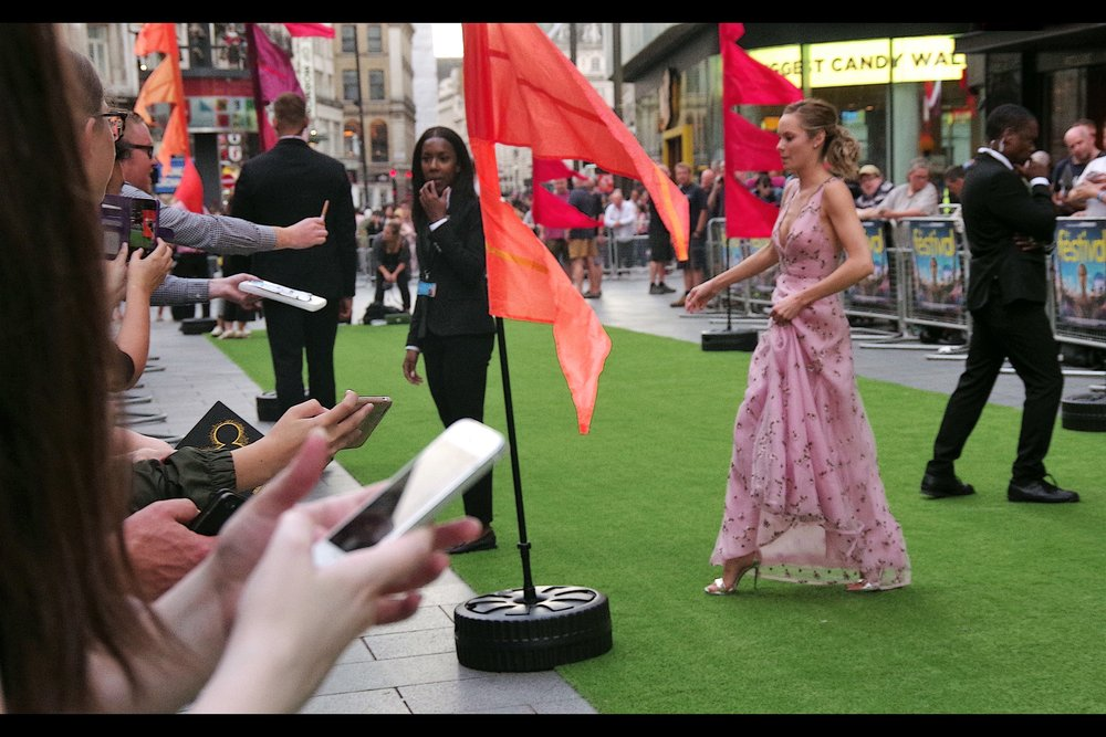 August 13th : it was Astroturf instead of a Red Carpet at    'The Festival'   .