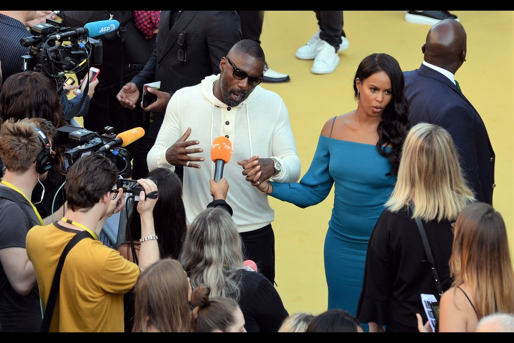 "August 21st : Yellow carpet and Idris Elba at the    ""Yardie"" premiere   ."