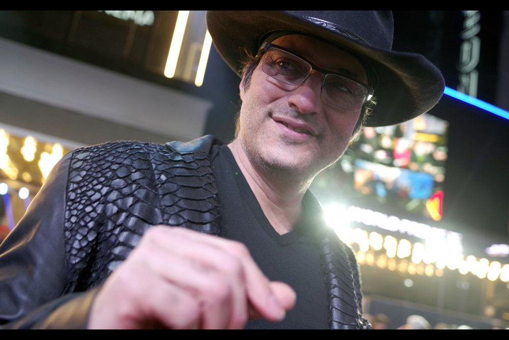 """Are you taking scans of my fingerprints for nefarious purposes or something?""  Robert Rodriguez signs in our area. RIGHT in our area."