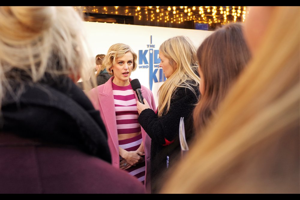 """I'm almost completely certain that vertical stripes will NOT be the Next Big Thing coming out of London Fashion Week. But if I'm wrong, I guess I'd better get as much out of this ensemble as possible before that happens…."" - Denise Gough is in this film, as well as last year's    BFI LFF premiere-ing ""Colette""    which I have not yet seen."