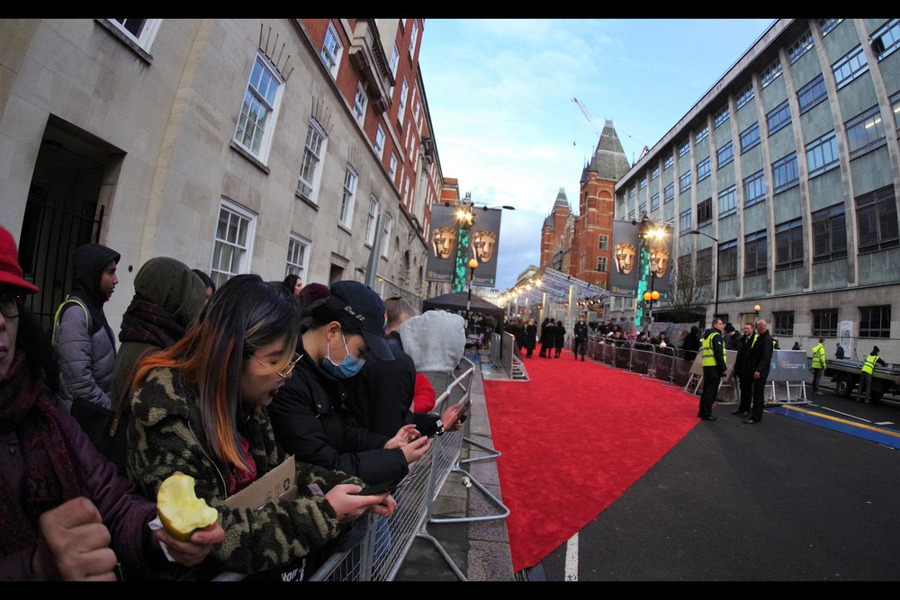So, no, technically I'm not on or adjacent to the Baftas Red Carpet.. but where were you?