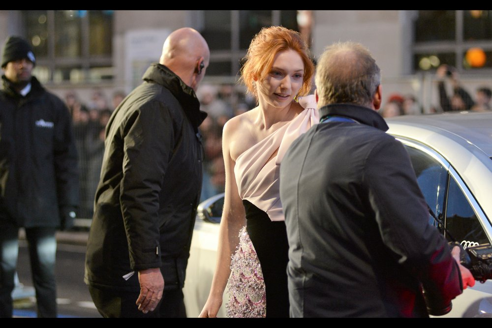 """My hair looks slightly messy. It's called a breeze, bro; and by the looks of things you don't have enough for that kind of thing to both you"" ""….."" ""Oh, you were complimenting my dress. Sorry about that!""  - Eleanor Tomlinson was in    'Colette"""