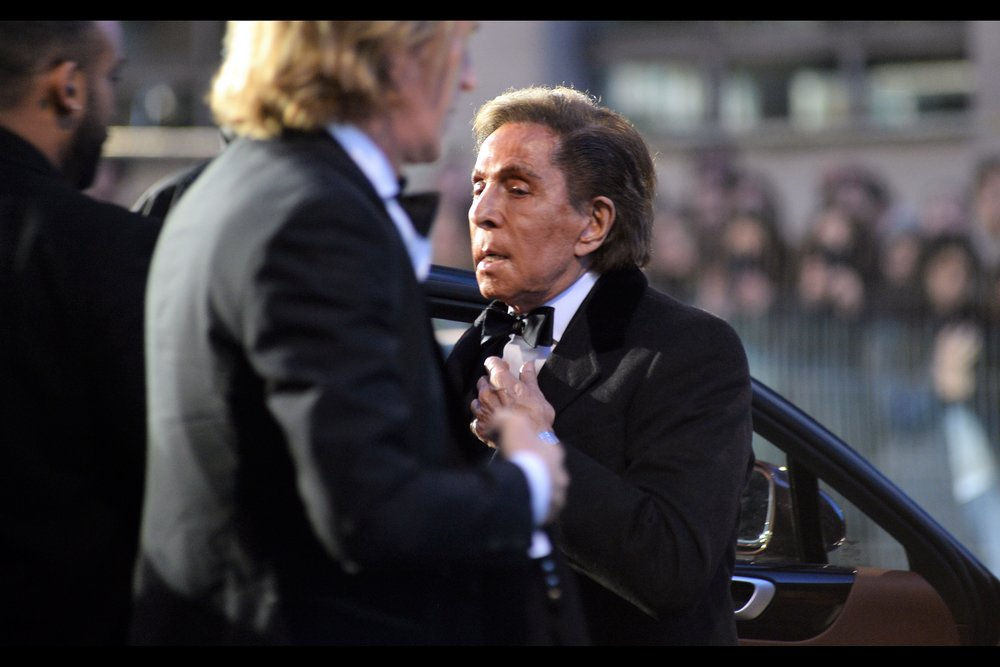 """They day I need you to help tie my bow tie is the day I need you to hand me a gun so I can shoot you for the insolence…. now let go""  - fashion designer Valentino has a storied history in the world of fashion, but he also played the role of 'Valentino' in, among other things,    Zoolander 2   ."