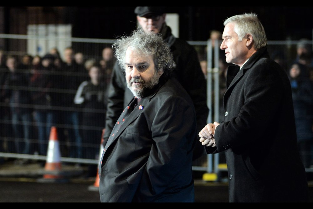 "I really wanted to remove or edit around the orange/white witches hats in the background of this photo of director Peter Jackson … but they're kind of impossible to remove. They're basically photographically load-bearing (somehow). I last photographed him at the premiere of    ""Mortal Engines""   ."