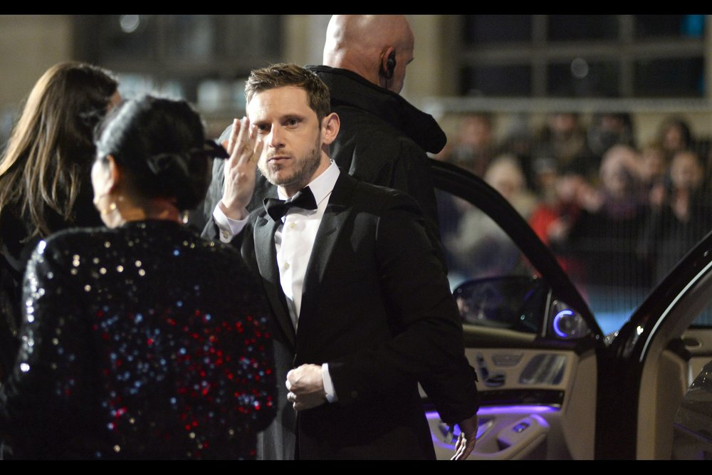 """I can give you all four seconds of my time. Ordinarily it would be five, but the calculation of how many seconds I could afford to give you took longer than anticipated. Sorry about that""  - Jamie Bell was most recently in / at the premiere of    ""Film Stars Don't Die In Liverpool""   ."