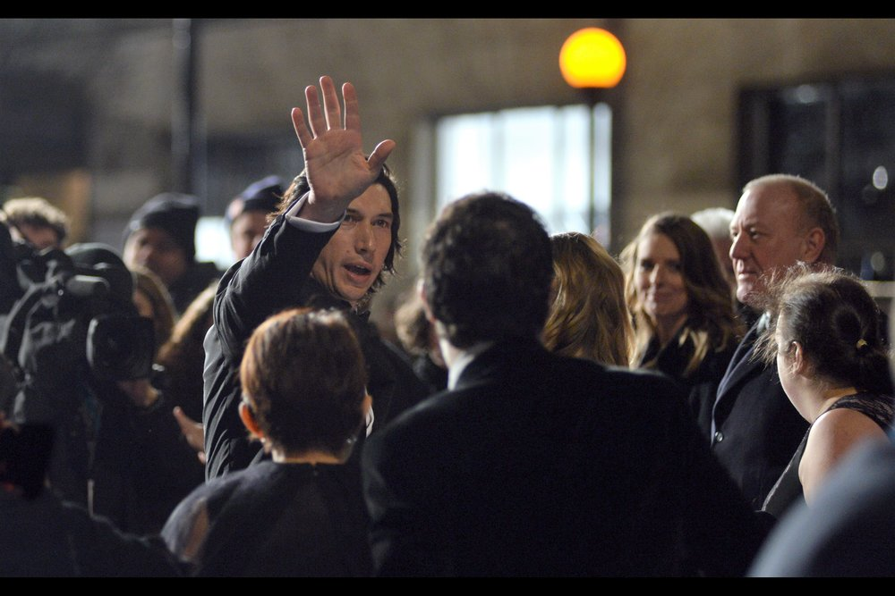 """Long-distance high-five for anyone wanting to remotely express how much they liked The Last Jedi. And no, I'm not saying whether I did."" -  Adam Driver was    at That Premiere   , though he stormed past with quite the in-character sense of vengeance, which I kind of appreciated."